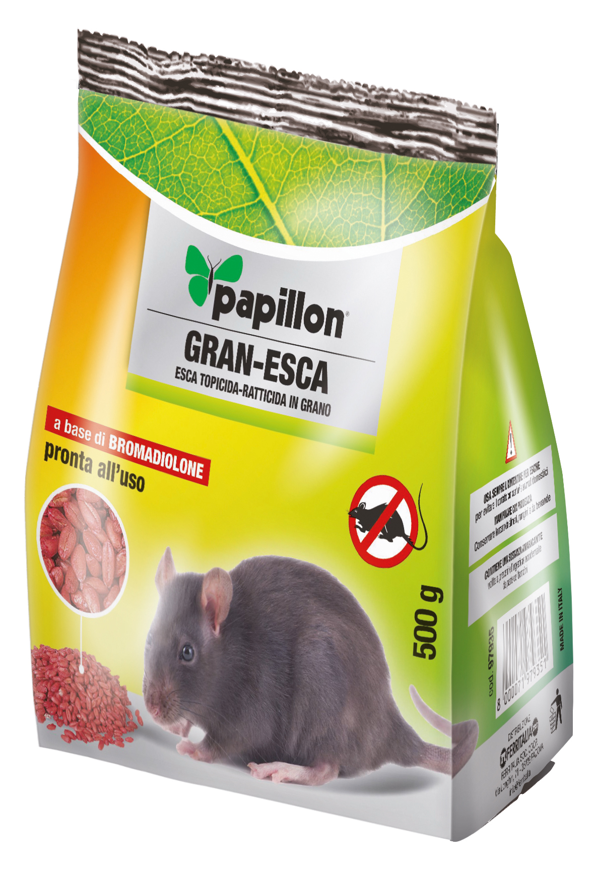 ESCA RODENTICIDA IN GRANO